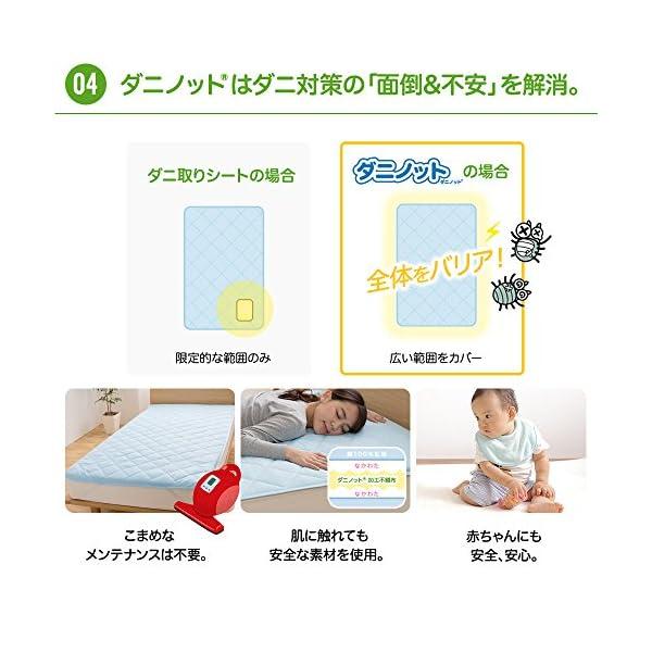 mofua 敷きパッド ダニノット(R)使用 ...の紹介画像6