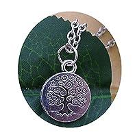 木のネックレス、秋のネックレス 秋の宝石のネックレス 秋のペンダント