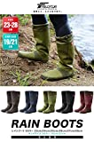 [フィールドア] レインブーツ 【25cm / ネイビー】 収納袋付 男女兼用 メンズ レディース キッズ 長靴 ドローコード コンパクト収納