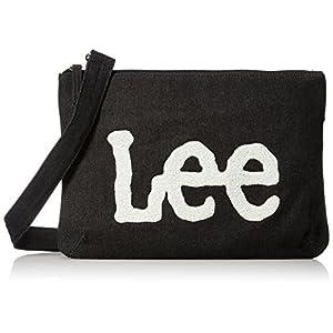 [リー] ショルダーバッグ サコッシュ デニム×Leeロゴもこもこサガラ刺繍 320-354 01 ブラック