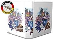 バインダー 2 Ring Binder Lever Arch Folder A4 printed Tuscany lilac coffee