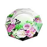 【Woliwowa】 美しい フラワー デザイン ガラス製 灰皿 (Eタイプ) [並行輸入品]