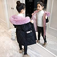 Girls Winter Jacket Warm Coat Thick Parkas Children's Winter Clothing Kids Big Fur Hood Outerwear for 4-14years