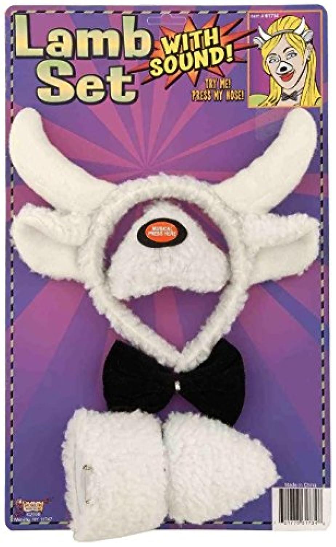 [フォーラム ノベルティ]Forum Novelties Animal Costume Set Lamb Nose Tail with Sound Effects 61734 [並行輸入品]