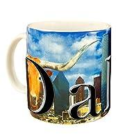 Americaware smdal02ダラス18ozフルカラーRelief Mug