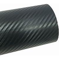 ホークスアイ(HAWK's EYE) 伸縮性 高品質 エア抜き溝仕様 エア噛みしにくい リアルカーボンシート 業務用 切り売り 152×60cm ブラック HE0205