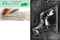 "Cybrtrayd"" Rottweiler""犬チョコレート型パッケージ50チェロバッグ、25のバンドルゴールド/ 25シルバーツイスト紐とチョコレート型説明書"