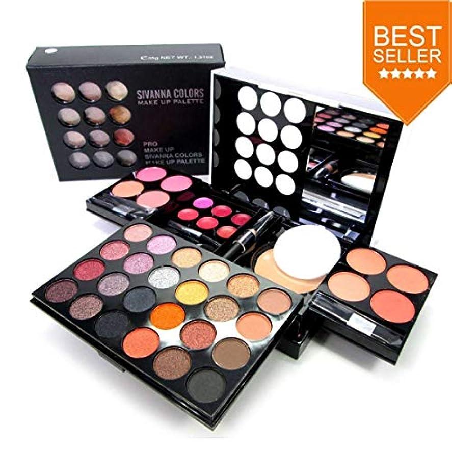 ブート哀れな統合Sivanna Colors PRO MAKE UP PALETTE DK212 3 in 1 Make-up Palette Set #1