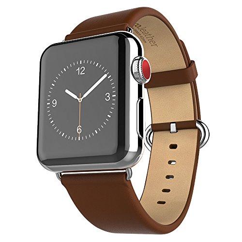 HOCO Apple Watch Series 3 / 2 / 1 バンド アップルウォッチ バンド 本革 交換ベルト(ブラウン 42mm)