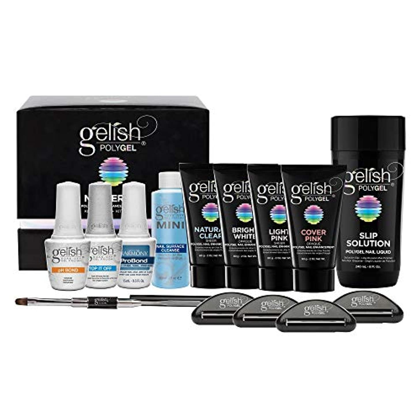脳岸縮約Harmony Gelish Gel Polish - PolyGel - Master Kit