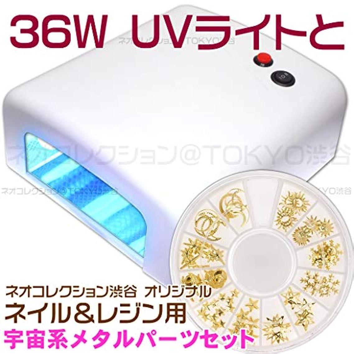 干渉気がついてそしてネオコレクション 白いUVライトとメタルパーツのセット 36Wジェルネイル用 36WUVライト単品単体本体 UVレジン用 レジンクラフト用ピンク UVランプ
