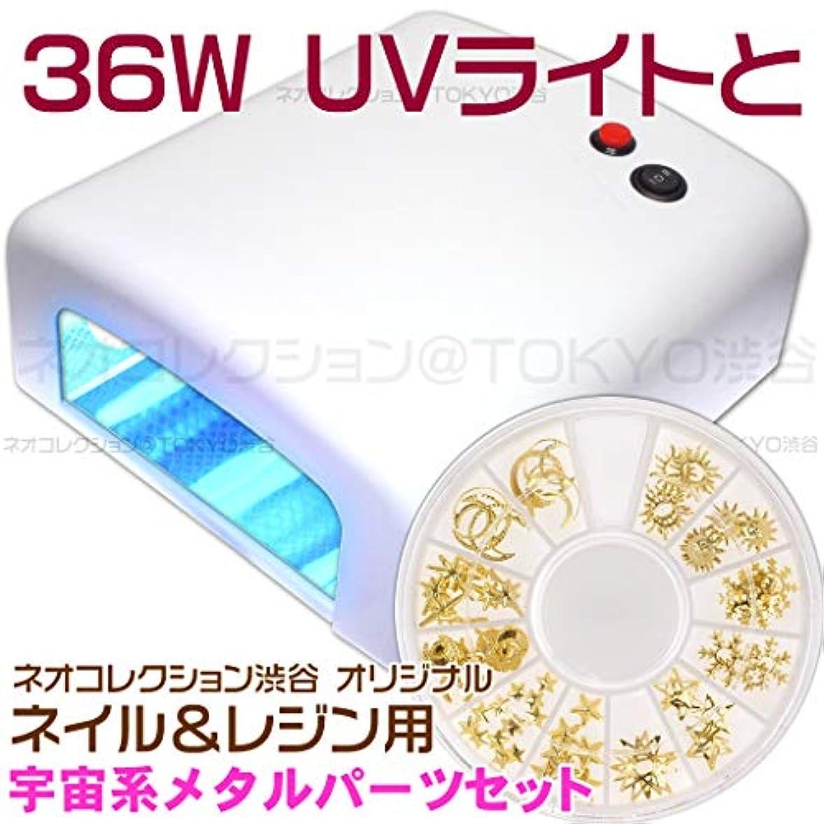 副流体満たすネオコレクション 白いUVライトとメタルパーツのセット 36Wジェルネイル用 36WUVライト単品単体本体 UVレジン用 レジンクラフト用ピンク UVランプ