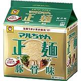 マルちゃん マルちゃん正麺 豚骨味 5食パック(88gX5P)×6個
