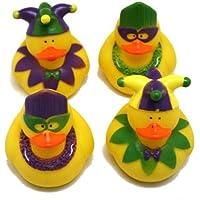 One Dozen (12) Rubber Duckie Ducky Duck MARDI GRAS Party Favors [並行輸入品]