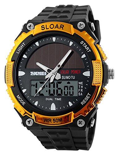 [해외]시계 남성 스포츠 야외 태양열 방수 디지털 패션 브랜드 크로노 그래프 [병행 수입품]/Watch Men`s Sports Outdoor Solar Waterproof Digital Fashion Brand Chronograph [Parallel import goods]