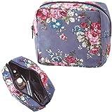 レトロ感のあるローズ柄 花柄 化粧ポーチ コスメポーチ ボックス型ポーチ 小物入れ
