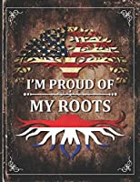 Im Proud of My Roots: Vintage Netherlands and American Flag Personalized Gift for Coworker Friend  Lightly Lined Pages Daily Journal Diary Notepad