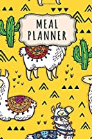 Meal Planner: Meal Planner / Grocery List Notepad | Llama Design | 52 Weeks (6x9)