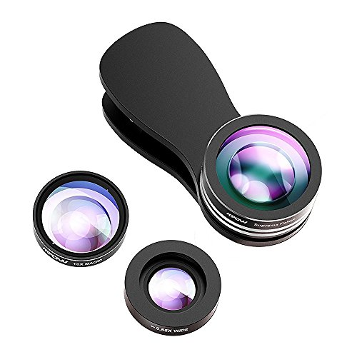 Mpow【改良版】カメラレンズキット クリップ式 3点セット (魚眼、マクロ、広角レンズ)