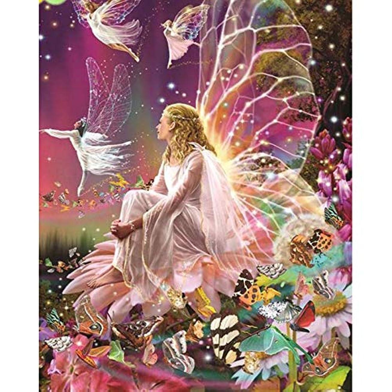 モザイクホラーマッシュZDDYX デジタル番号付き顔料塗装 現代の家の装飾画蝶の妖精