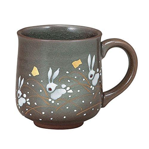 九谷焼 陶器 マグカップ はねうさぎ