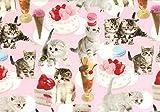 LECIEN (ルシアン) nyan cat made 約110cm巾×2mカット 40412 col.20
