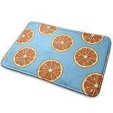 玄関マット Blood Orange ブラッドオレンジ マットフロアマット 滑り止め カーペット 玄関 室内 屋外用ドアマット 40*60 White