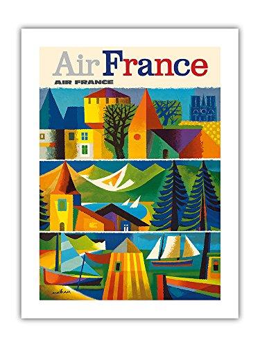 エールフランス - ビンテージな航空会社のポスター によって...
