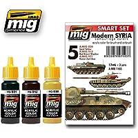 AmmoのMigモダンシリア迷彩セットアクリル色セット3 Jars 17 ml # 7103