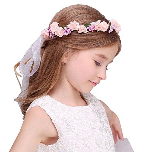 shenyuhuayang フラワーガールに変身 ヘッドドレス 可愛い 子供用髪飾り ヘアアクセサリー 花冠 花