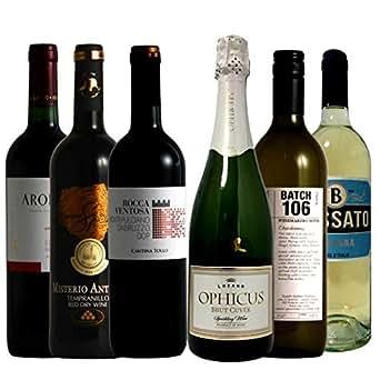 ワイン名産国周遊 フランス・スペイン・イタリア 飲み比べ ワインセット 赤ワイン 3本 白ワイン 2本 スパークリングワイン 1本 750ml×6本