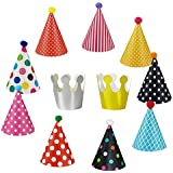 Wubao Birthday Party Hats Fun Party Hats Set For Kids and Adults 11PCS