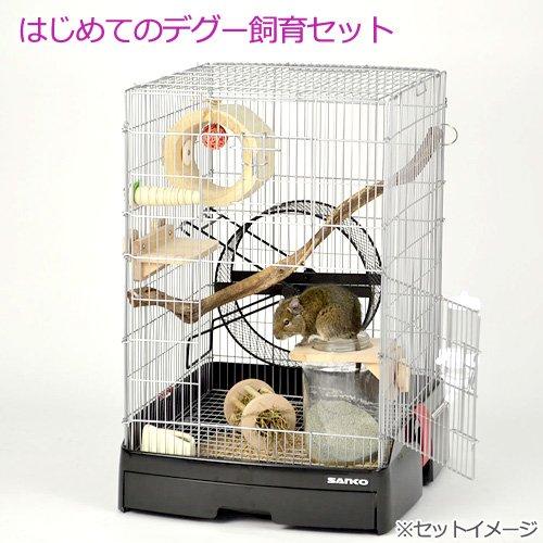 三晃商会 SANKO はじめてのデグー飼育セット ケージ 回し おもちゃ