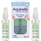 Aquinelle Toilet Tissue Mist Gift Set, Eco-Friendly & Non-Clogging Alternative to Flushable Wipes Simply Spray On Any Folded
