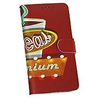 HUAWEI P20 lite HWV32 HUAWEI P20 lite Huawei ファーウェイ au エーユー スマホ カバー カバー レザー ケース 手帳タイプ フリップ ダイアリー 二つ折り 革 ユニーク 珈琲 コーヒー ネオン 006942
