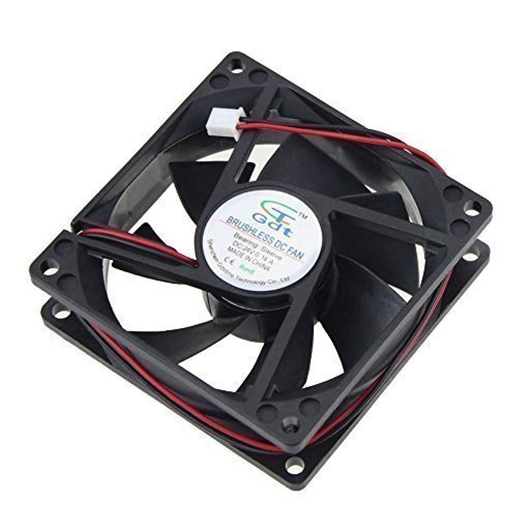 印をつける祭司ゲートウェイGDT 80mm x 80mm x 25mm 24v Brushless DC Cooling Fan [並行輸入品]