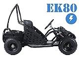 スマートDeals Now Taotao ek80ユース大人キッズgo-cartクアッド4Wheeler Ride On with 20AHバッテリー電源電動電源 ブラック TaoTao EK80 Kids Electric Go-carts