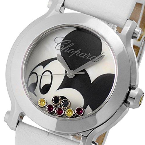 [ショパール]腕時計27/8475-3032ハッピースポーツ ハッピーミッキーホワイトシェル SS/レザー クォーツ[中古品] [並行輸入品]