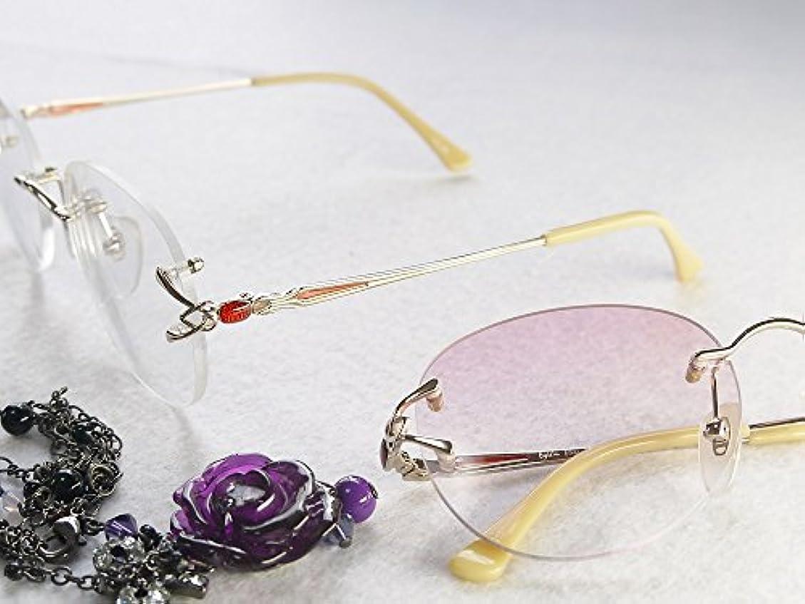 累進多焦点遠近両用老眼鏡(境目のない遠近両用メガネ) TK-103 2色 7度数 (+4.00, クリアレンズ)