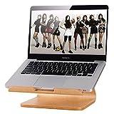 NiceCool エレガントな木製ドックラップトップ垂直デスクトップ放熱ホルダーはMacbook AirはMacBook Pro のASUS ノートパソコン EeeBoo..