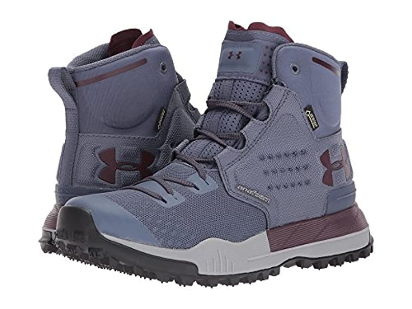 新年温かい溶かす(アンダーアーマー) UNDER ARMOUR レディースブーツ?靴 UA Newell Ridge Mid GTX Apollo Gray/Steel/Raisin Red 7 (24cm) B - Medium
