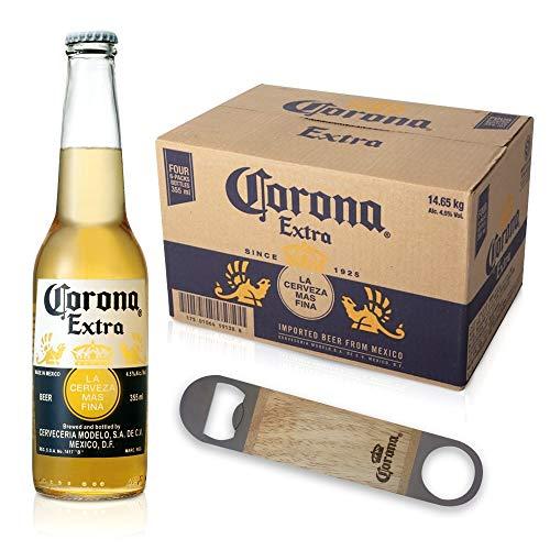 オリジナル栓抜き付き ビール コロナ・エキストラ ボトル 355ml×24本[栓抜き付きはAmazon.co.jpが販売・発送する商品のみ]