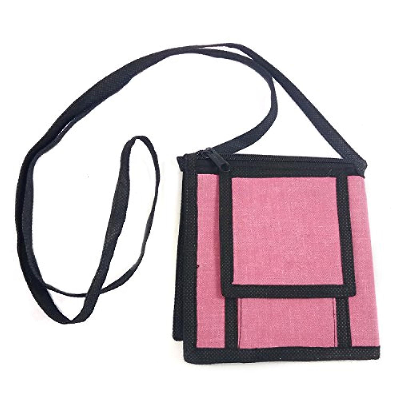 ロングストラップショルダーバッグクロスボディの女性のミニスリング財布、スタイリッシュな手作りのジュートパターン、ジッパー、フラップ&マグネットボタンの開閉でオールインワントラベルオーガナイザーバッグ数量1