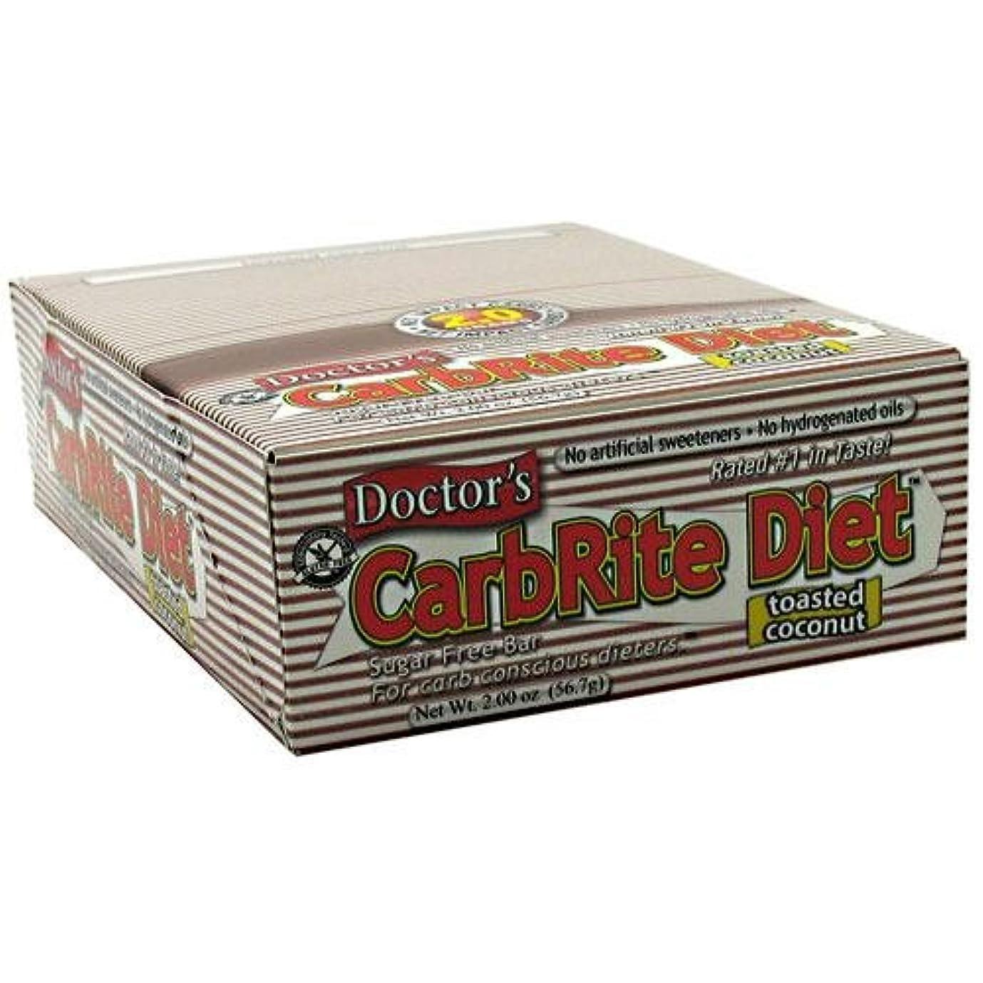 わずらわしい着実にバターDoctor's CarbRite Diet Toasted Coconut Bars, 2 oz, 12 count by Universal Nutrition