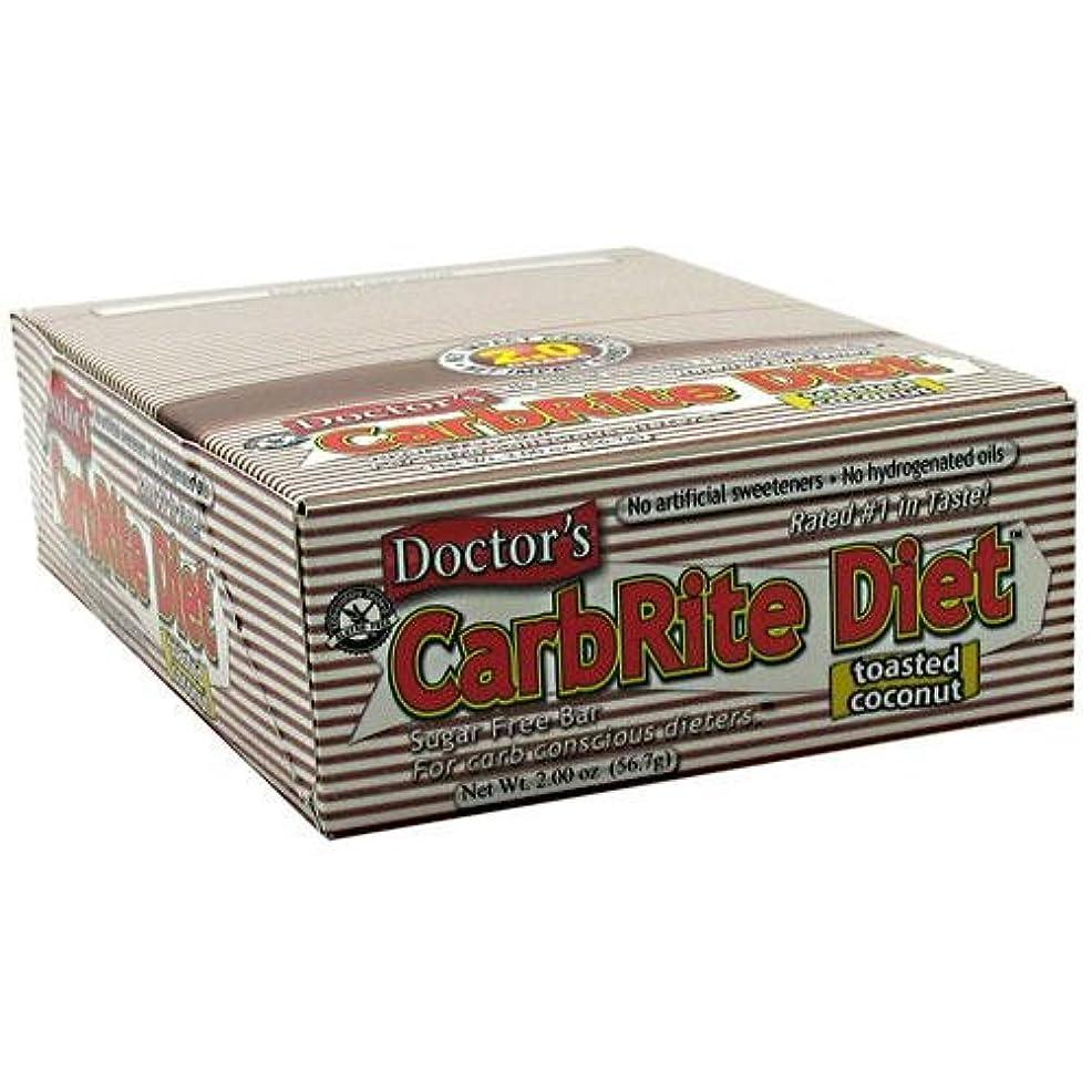政権レンディション変位Doctor's CarbRite Diet Toasted Coconut Bars, 2 oz, 12 count by Universal Nutrition
