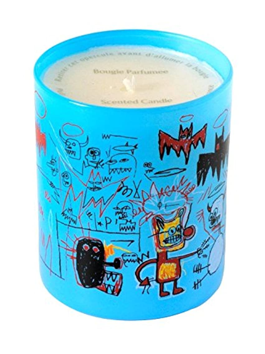 目を覚ます絶縁する配偶者ジャン ミシェル バスキア ブルー キャンドル(Jean-Michael Basquiat Perfumed Candle