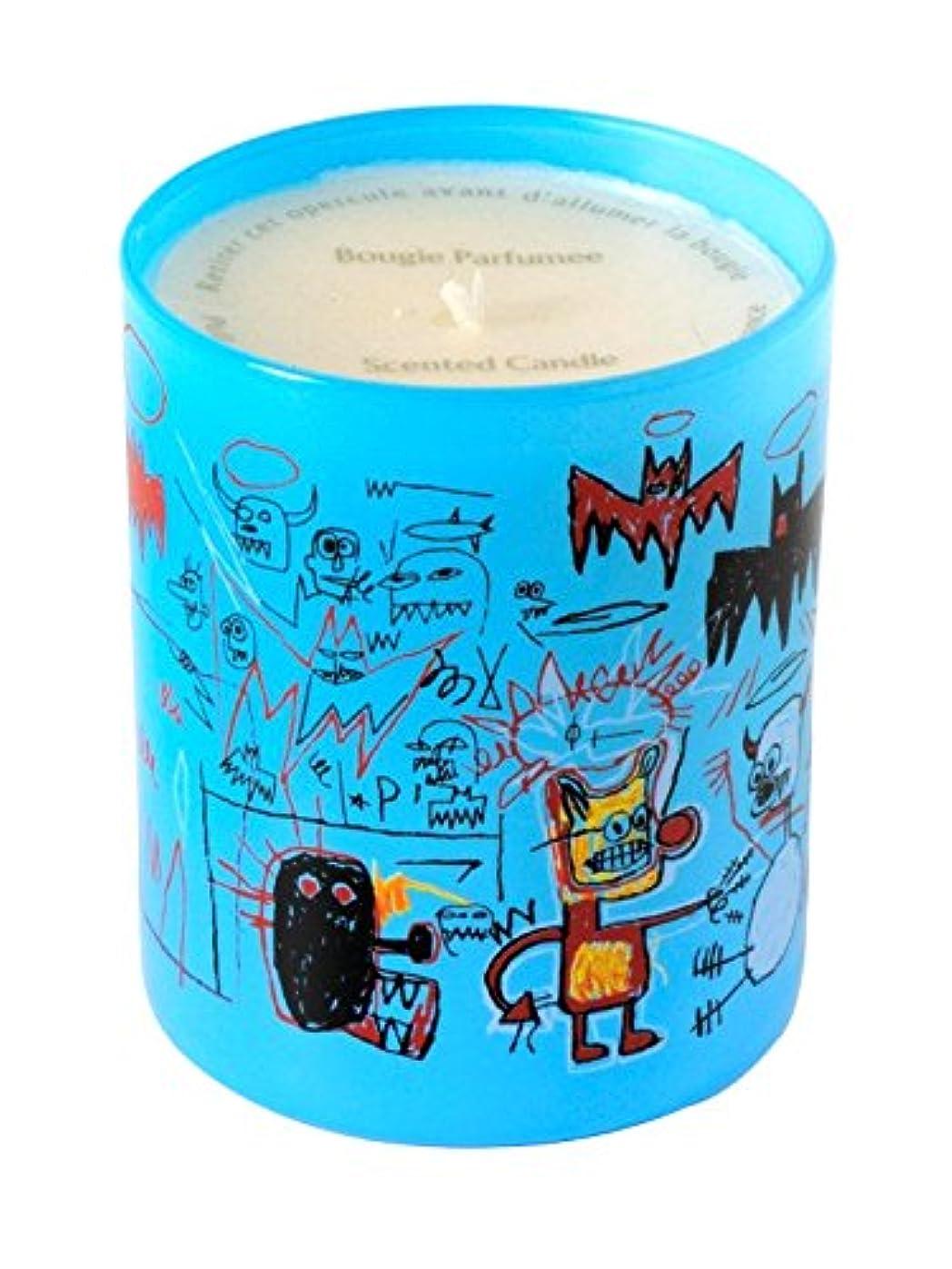 別々に圧縮突撃ジャン ミシェル バスキア ブルー キャンドル(Jean-Michael Basquiat Perfumed Candle