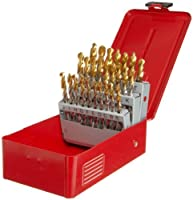 Dormer A09714 General Purpose Jobber Drill Set High Speed Steel Bright/TiN Coated A - Z Size [並行輸入品]