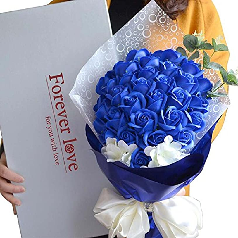 コメンテーター家庭教師イベントバスソープローズフラワーブーケは、結婚式のバレンタインデーのプレゼントを保持する決してフェスティバル、結婚提案、バレンタインデーに適しています。
