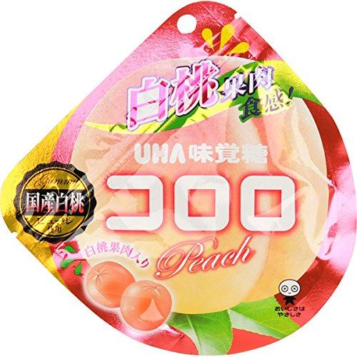味覚糖 コロロ ピーチ 国産白桃 40g×6袋